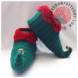 Elf Slippers Shoes Crochet Pattern - Curly Toes
