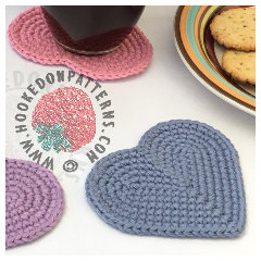 New Crochet Patterns - Heart Coaster Free Crochet Pattern