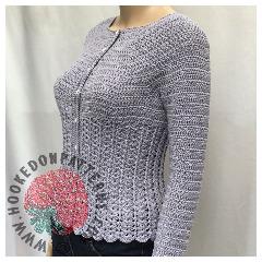 Kamila Fitted Cardigan Crochet Pattern