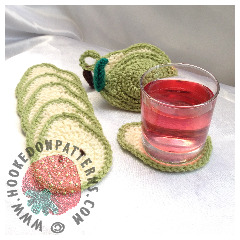 Pear Coaster Set Crochet Pattern