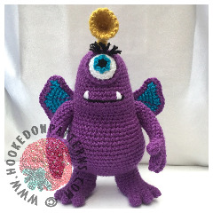 Purple People Eater Free Toy Monster Amigurumi