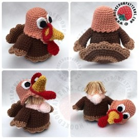 Turkey Gonk Outfit Crochet Pattern