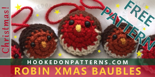 Free Crochet Pattern For Christmas Tree Baubles Hooked On Patterns