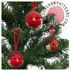 Free Crochet Pattern for Christmas Tree Baubles
