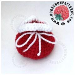 Mini Santa Sack Pouch Free Crochet Pattern