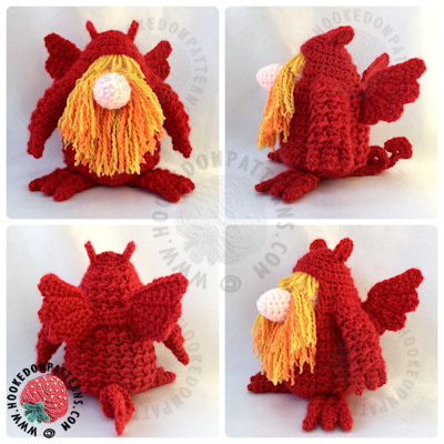 Free Crochet Dragon Pattern Outfit for Gonk