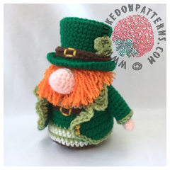 Leprechaun Gonk Toy Free Crochet Pattern