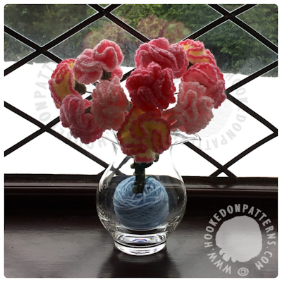Free Crochet Flowers Carnations Pattern
