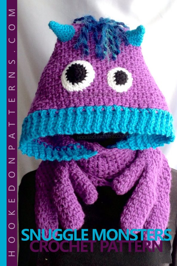 Scarf Crochet Pattern - Snuggle Monsters