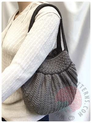 Handbag Crochet Pattern Audrey Hobo Bag Hooked On Patterns