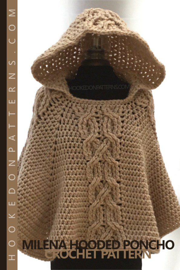 Hooded Poncho Crochet Pattern Milena Hooked On Patterns