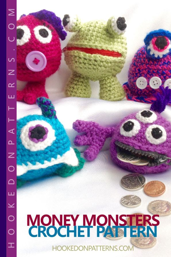 Money Monsters Crochet Pattern