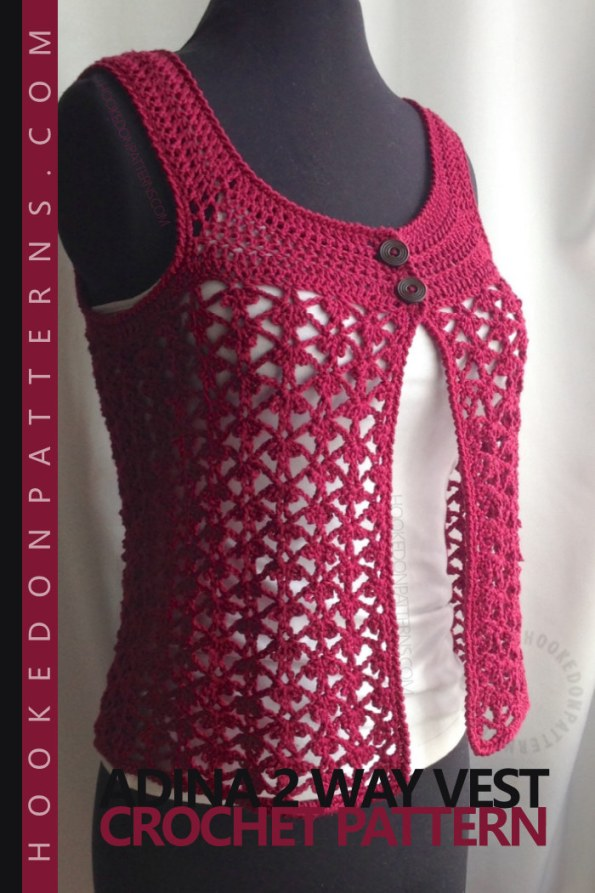 Lace Vest Crochet Pattern Adina 2 Way Hooked On Patterns