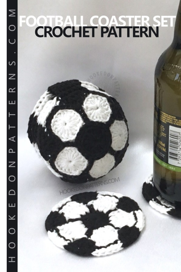 Soccer Ball Crochet Pattern Football Coasters Hooked On Patterns