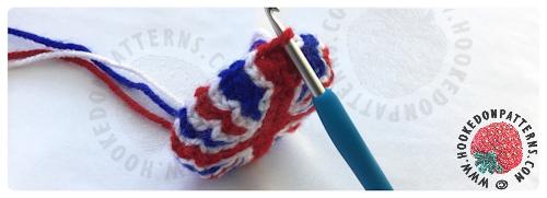 Union Jack Mini Top Hat Crochet Pattern from Hooked On Patterns