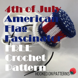 4th of July American Flag Fascinator FREE Crochet Pattern