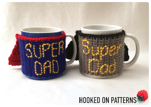 Father's Day Crochet Gift - Free Super Dad Mug Cosy Crochet Pattern