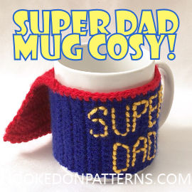 Free Father's Day Crochet Gift Pattern - Free Crochet Patterns Mug Cosy