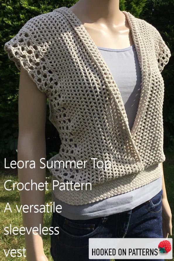 Crochet Sleeveless Top - Leora Summer Top Crochet Pattern - Crochet Patterns To Wear from Hooked On Patterns