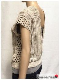 Crochet Sleeveless Top Leora Summer Top Crochet Pattern Open Back View