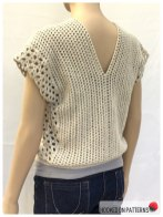 Crochet Sleeveless Top Leora Summer Top Open Front Back View