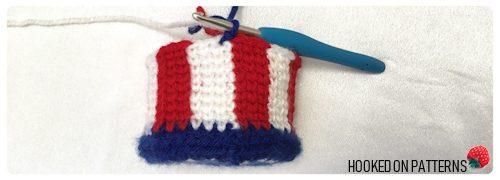 Free 4th of July Crochet Pattern - American Flag Mini Hat