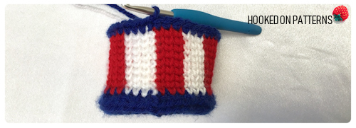 Free 4th of July American Flag Mini Hat Crochet Pattern