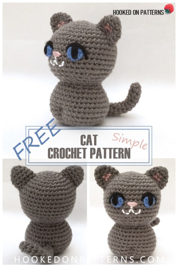 Easy Crochet Cat Patterns - Free Amigurumi Patterns • DIY & Crafts | 893x595