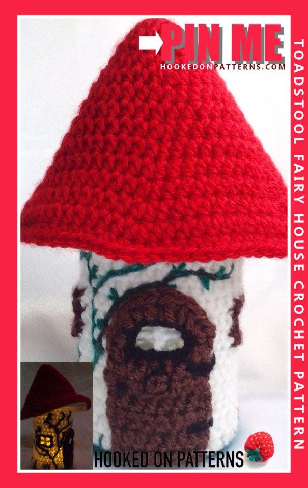 Mason Jar Cover Crochet Pattern - Fairy House Crochet Pattern