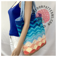 Beach Bag Crochet Pattern- Sea Shells
