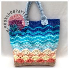 Beach Bag Crochet Pattern - Sea Shells