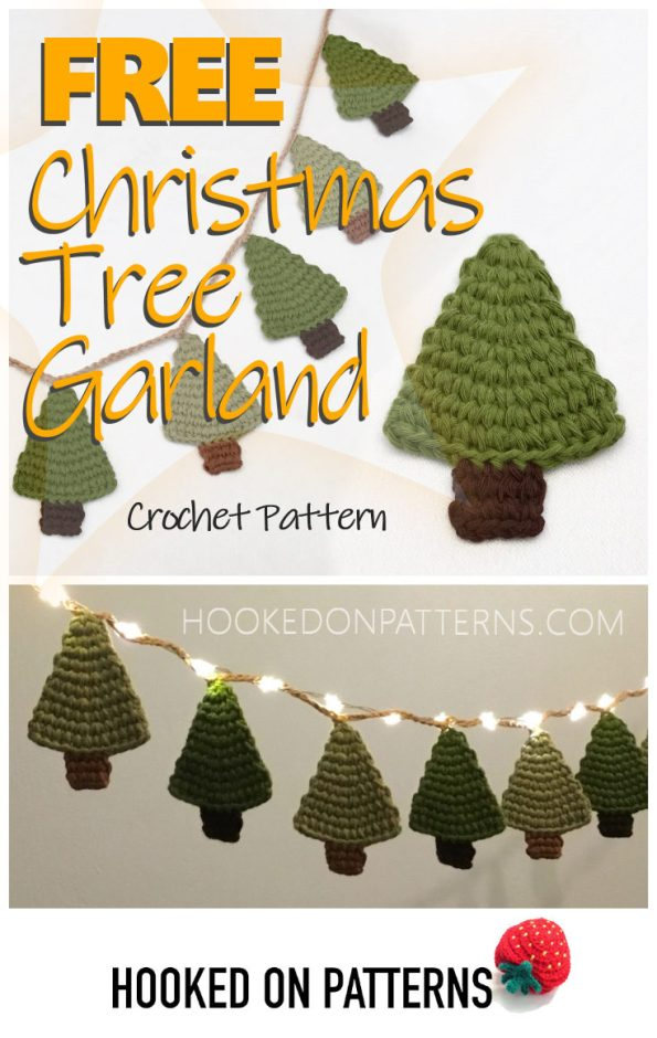 Free Crochet Christmas Tree Garland Hooked On Patterns