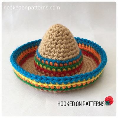 Mini Sombrero Doll Hat Crochet Pattern