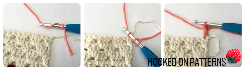 Photo tutorial for making a Crochet Standing dc stitch
