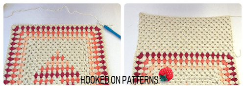 Image for the Free Cushion Cover Granny Heart Crochet Pattern