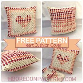 Image for the Free Crochet Cushion Cover Design