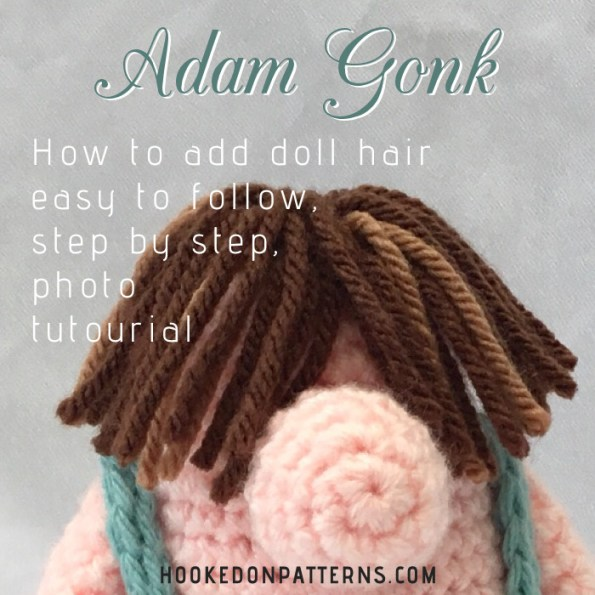 How to add doll hair, easy to follow, step by step, photo tutorial