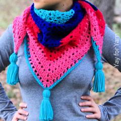 Candy Shop Shawl Free Crochet Pattern