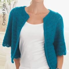 Cape Sleeved Cardi Crochet Pattern
