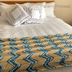 Chevron Blanket Free Crochet Pattern
