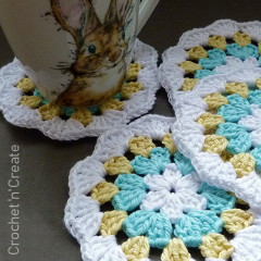 Cotton Granny Coaster Crochet Pattern