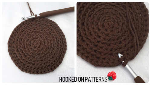 Free Sunflower Basket Crochet Pattern image of working the basket walls