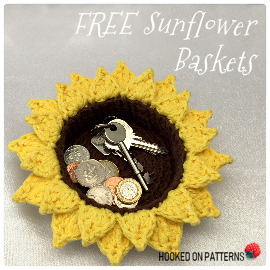 Free Sunflower Basket Crochet Pattern Featured Image