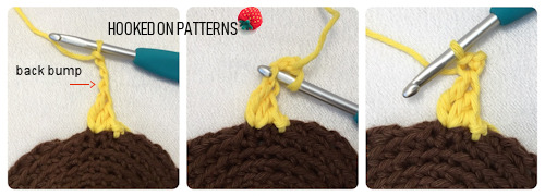 How to crochet the picot stitch for the sunflower petals