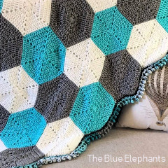 Hexagon Baby Blanket Free Crochet Pattern
