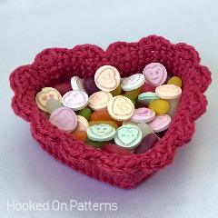 Heart Basket Free Crochet Pattern