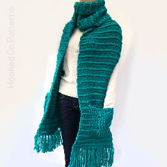 Winter Scarves Crochet Patterns: Textured Chunky Scarf