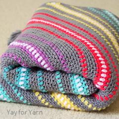 Watercolor Skies Blanket Free Crochet Pattern