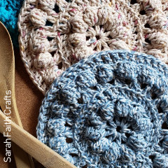 Bobble Stitch Hot Pads Free Crochet Pattern