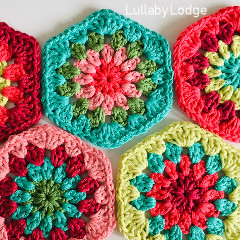 Granny Flower Hexagons Free Crochet Pattern